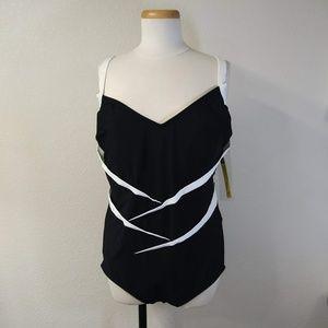 Vintage Carol Wior Slimsuit NOS Sz 22 Swimsuit S6